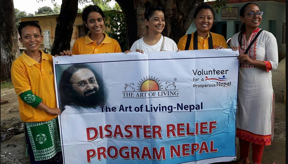 disaster relief fund collection by art of living